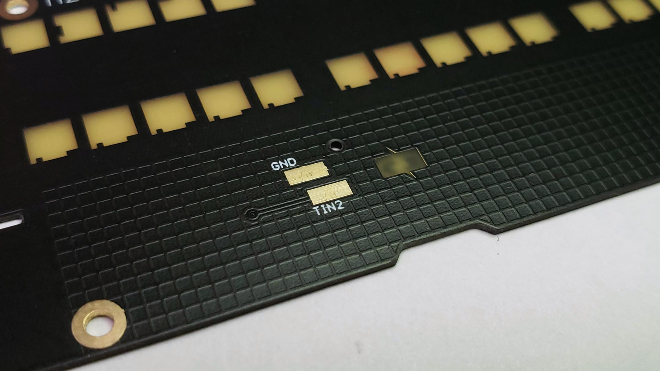 Pads for Spring contacts on Top Board